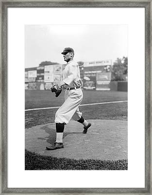 Baseball Star Walter Johnson Framed Print by Underwood Archives