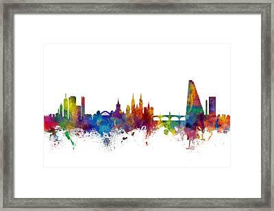 Basel Switzerland Skyline Framed Print