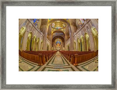 Basilica Of The National Shrine Of The Immaculate Conception Framed Print by Susan Candelario