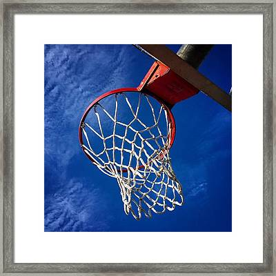 Basketball Hoop #juansilvaphotos Framed Print