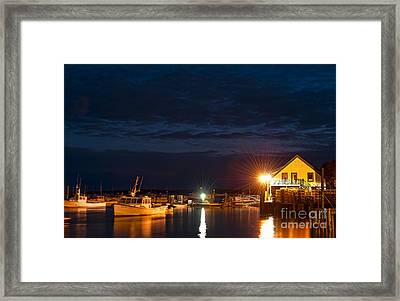 Bass Harbor At Night Framed Print
