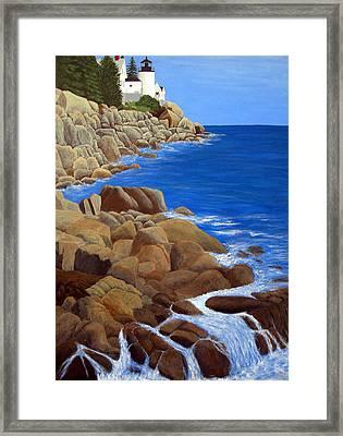 Bass Harbor Head Lighthouse Framed Print by Frederic Kohli