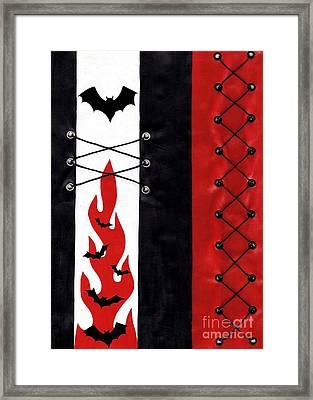 Bat Outa Hell Framed Print by Roseanne Jones