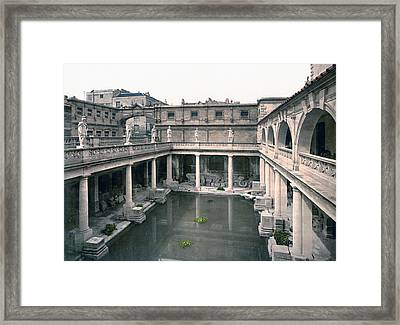 Bath - Somerset - England - Roman Baths And Abbey Framed Print by International  Images