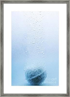 Bath Bomb Effervescing Framed Print by Martyn F. Chillmaid