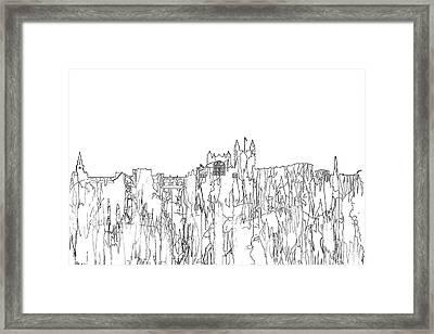Bath England Skyline Framed Print