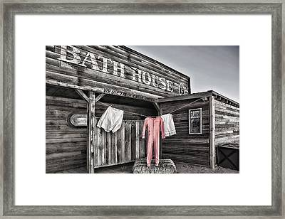 Bath House In Old Tucson Framed Print