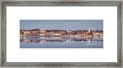Bath Maine Panorama Framed Print by Benjamin Williamson