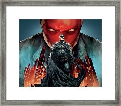 Batman Under The Red Hood 2010 Framed Print by Caio Caldas