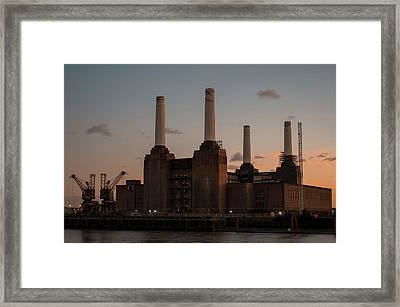 Framed Print featuring the photograph Battersea Power Station by Stewart Marsden