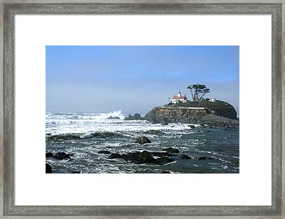 Battery Point Lighthouse Crescent City 1 Framed Print by Larry Darnell