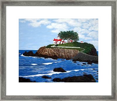 Battery Point Lighthouse Framed Print by Frederic Kohli