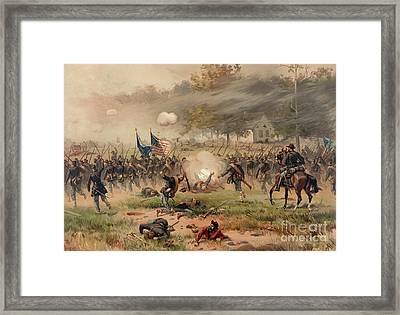 Battle Of Antietam Framed Print by Thure de Thulstrup