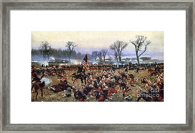 Battle Of Fredericksburg Framed Print