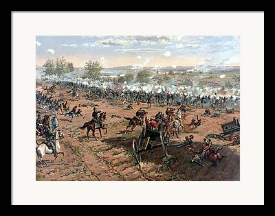 Gettysburg Paintings Framed Prints