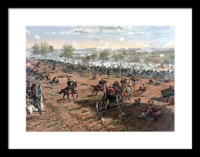 Battlefield Paintings Framed Prints
