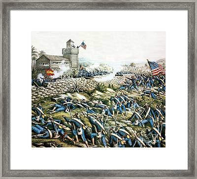 Battle Of San Juan Hill, 1898 Framed Print