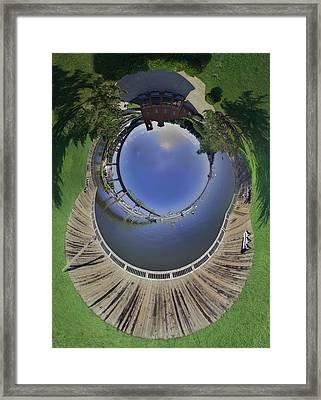 Battleship Cove Little Planet Framed Print by Christopher Blake