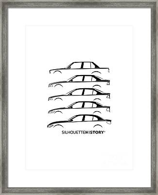 Bavarian Three Sedan Silhouettehistory Framed Print