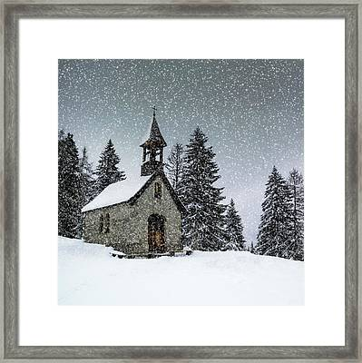 Bavarian Winter's Tale Anna Chapel Framed Print