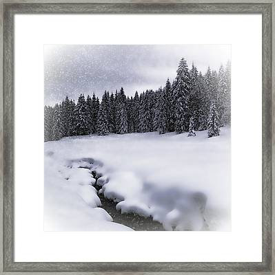 Bavarian Winter's Tale Vii Framed Print by Melanie Viola