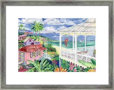 Bay Caribe Framed Print