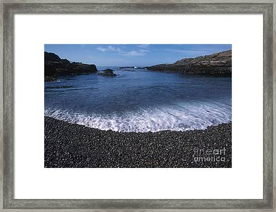 Beach At Point Lobos Framed Print by Stan and Anne Foster