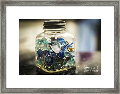 Beach Glass Framed Print
