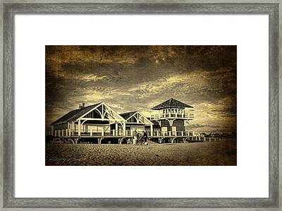 Beach House Framed Print by Lourry Legarde