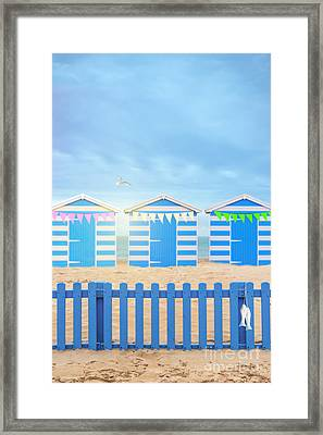 Beach Huts Framed Print by Amanda Elwell