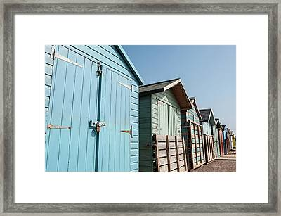 Beach Huts Vi Framed Print