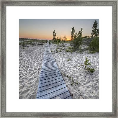 Beach In Elberta Framed Print by Twenty Two North Photography