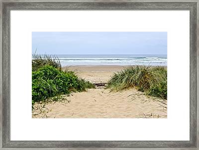 Beach Oceanview Framed Print