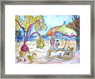 Beach Picnic Framed Print by Suzanne Stofer