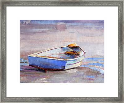 Beach Puddles Framed Print