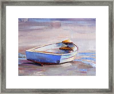 Beach Puddles Framed Print by Trina Teele
