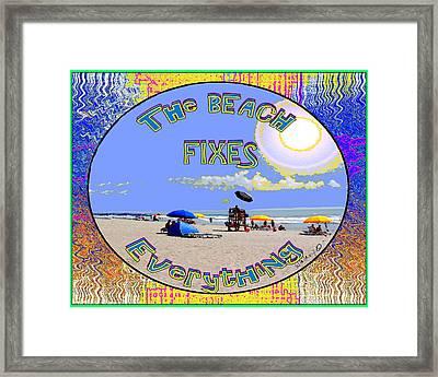 Beach Sign Framed Print