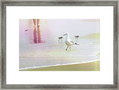 Beach Walk Framed Print by JAMART Photography