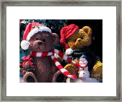 Beary Merry Christmas Framed Print