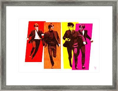 Beatles - Pop Art Framed Print by William Cuccio aka WCSmack