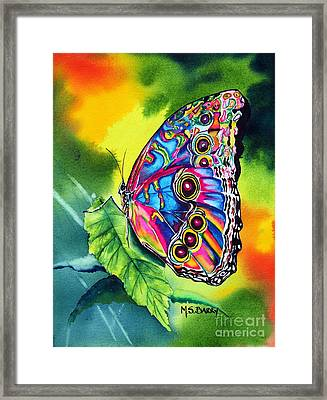 Beatrice Butterfly Framed Print by Maria Barry