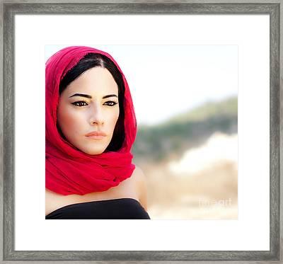 Beautiful Arabic Woman Framed Print