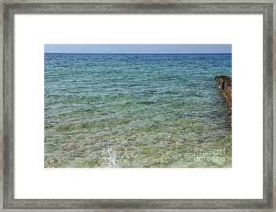 Beautiful Caribbean Ocean Framed Print by Patricia Hofmeester