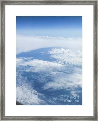 Beautiful Cloudscape On A Blue Sky  Framed Print