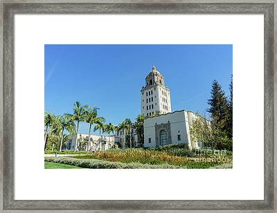 Beautiful Main Building Of Beverly Hills City Hall Framed Print