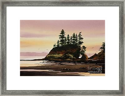 Framed Print featuring the painting Beautiful Shore by James Williamson