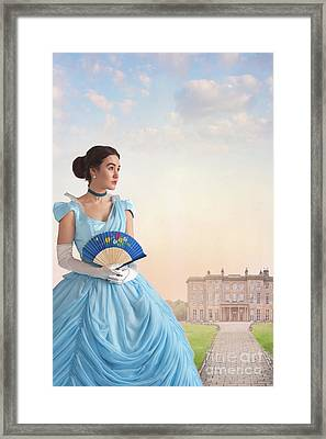 Beautiful Young Victorian Woman Framed Print by Lee Avison