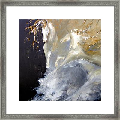 Beauty For Ashes Framed Print by Dina Dargo