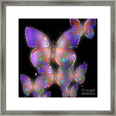 Beauty Of Butterflies Framed Print by Gayle Price Thomas
