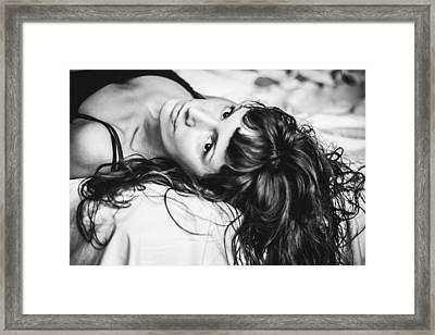 Bed Portrait  Framed Print